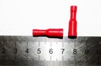 Клемма на провод тип B гнездо TBI-1,25-4F круглое диаметр 3,9мм сечение 0,5-1,5 кв.мм красная