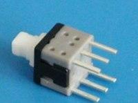Кнопка мини PSM6-1-0  с фиксатором