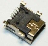 Разъем miniUSB(м) на плату, 5 контактов USB/M-1J