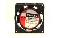 Вентилятор RQA 8025HSL, 220VAC, 80х80х25мм, 0,09А, 27Дб, 2400 об/мин, подшипник скольжения