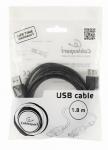 Кабель USB A шт. - USB A гн. 1.8 метра, позол. контакты, Gembird Pro