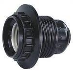 Патрон Е27 карболитовый с прижимным кольцом черный