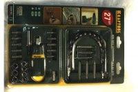 Набор Kraftool, 27 предметов, отвертка реверсивная с битами и торцевыми головками