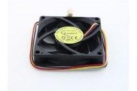 Вентилятор Gembird D7015SM-3-B, 12VDC, 70x70х15мм, 3 pin, подшипник качения