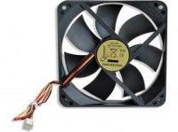 Вентилятор Gembird D12025SM-3-B, 12VDC, 120х120х25мм, 3 pin, подшипник качения