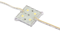 Модуль светодиодный 5050 RED 4LED DC12V IP65 7000K