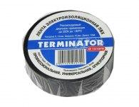 Изолента Terminator IZ 1510FR, размер 0,13х15мм, длина 10м, универ, самозатухающая, цв. черный
