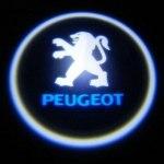 Логотип-проекция Peugeot