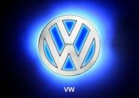 Эмблема Volkswagen с подсветкой, белая