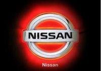 Эмблема Nissan Almera с подсветкой, красная