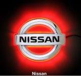 Эмблема Nissan Primera с подсветкой, красная