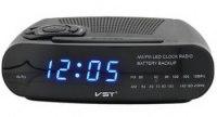 Часы VST 906 сетевые (радио) синие