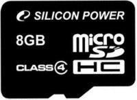 Карта памяти 8 Гб Silicon Power microSDHC Cl 4