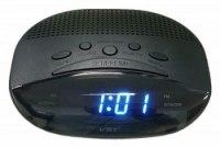 Часы VST 908-5 сетевые синие