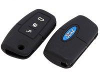 Чехол силиконовый для ключа Ford Focus 2, Fiesta, Mondeo, Kuga, C-Max, S-Max (код Kc-slk-F-01)