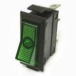 Выключатель ASW-09-102 on-on зеленый