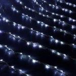 Гирлянда Светодиодный Дождь наружняя 2х1,5м белая, 400 светодиодов, нить силикон