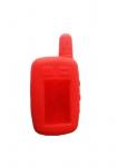 Чехол силиконовый для брелока Tomahawk TW-9010, 9020, 9030, узкая антенна, цвет красный