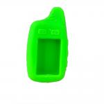 Чехол силиконовый для брелока Tomahawk TW-9010, 9020, 9030, широкая антенна, цвет зеленый