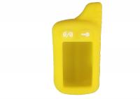Чехол силиконовый для брелока Tomahawk TZ-9010, 9020, 9030, цвет жёлтый