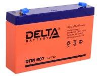 Аккумулятор 6 В 7Аh Delta DT