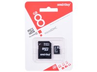 Карта памяти 8 Гб Smartbuy microSDHC Cl 10