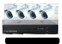 Комплект видеонаблюдения на 4 уличные камеры AHD 1,3 мегапикселя