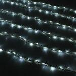 Гирлянда Светодиодный Дождь наружняя 2х3м белая, 800 светодиодов, белая нить