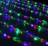 Гирлянда Светодиодный Дождь наружняя 2х3м мульти, 800 светодиодов, белая нить