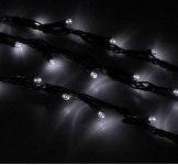Гирлянда Светодиодный Дождь наружняя 2х1,5м белая, 400 светодиодов, темная нить