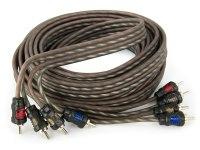 Межблочный кабель Aura RCA-0450, 4RCA шт + 4RCA шт, длина 5м
