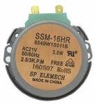 Двигатель вращения поддона СВЧ SSM-16HR, 21V, 3W,5/6RPM, пластиковый шток H=6mm