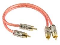 Межблочный кабель Aura RCA-2202, 2RCA шт + 2RCA шт,  длина 0,25 м