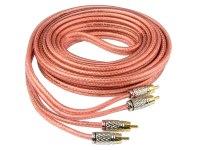 Межблочный кабель Aura RCA-2252, 2RCA шт + 2RCA шт, длина 5м