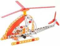 Конструктор металлический Вертолет, 154 детали
