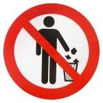 Наклейка Не мусорить