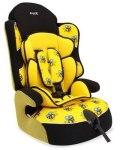 Кресло детское Siger Драйф Art, группа 1/2/3, возраст 1-12 лет, вес 9-36 кг, расцветка пчелка