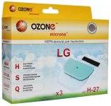 Набор микрофильтров для пылесоса OZONE H-27