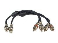 Межблочный кабель-разветвитель Aura RCA-BY11MKII, 1RCA гн + 2RCA шт, 0,2м