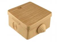 Коробка распределительная 65*65*50 IP54 4 входа с крышкой СОСНА ОП TDM