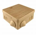 Коробка распределительная 80*80*50 IP54 7 входов с крышкой СОСНА ОП TDM