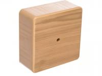 Коробка распределительная D75*75*20 IP40 сосна с клемной колодкой о/у TDM