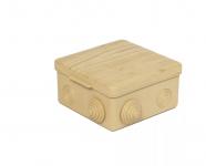Коробка распределительная 100*100*55 IP54 8 входов с крышкой СОСНА ОП TDM