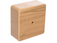 Коробка распределительная D75*75*28 IP40 сосна с клемной колодкой о/у TDM