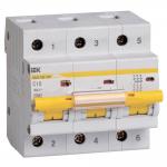 Автоматический выключатель 3-фазный 10А х-ка С ИЭК