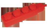 Удлинитель сетевой IEK 4 розетки 5м 16А с защитными крышками IP44