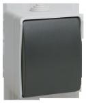 Выключатель ФОРС ВС20-1-0-ФСр одноклавишный  для открытой установки IP54 IEK