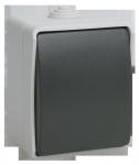 Выключатель ФОРС ВСк20-1-0-ФСр кнопочный для открытой установки IP54 IEK