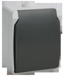 Розетка ФОРС РСб20-3ФСр одноместная с з/к для открытой установки IP54 IEK