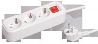 Удлинитель сетевой IEK CLASSIC 3 розетки 3м 16А с/з с выключателем